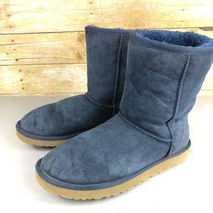 UGG Shoes - Blue Ugg Classic Short Boot Sz 10